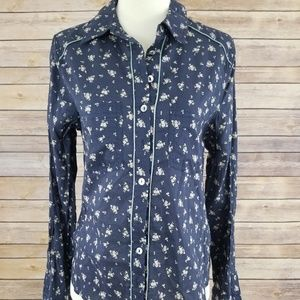 NWOT Free People Long Sleeve Button Down Shirt
